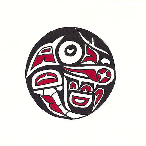 "Pacific Northwest Raven - 10"" x 10"" Hand Painted Batik Panel"