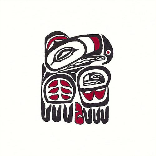 "Pacific Northwest Eagle - 10"" x 10"" - Hand Painted Batik Panel"