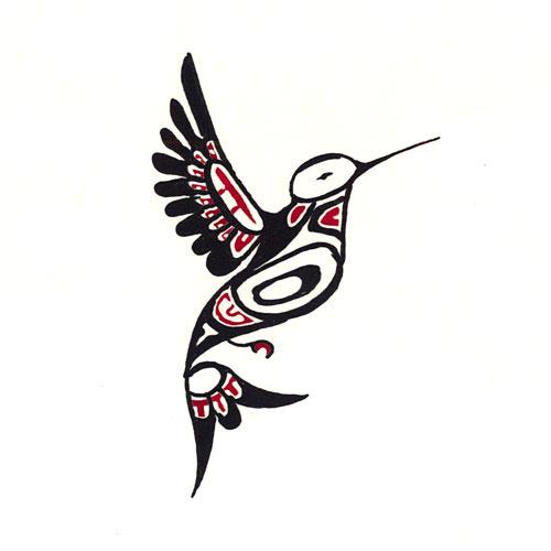 "Pacific Northwest Hummingbird - 10""x10"" Hand Painted Batik Panel"