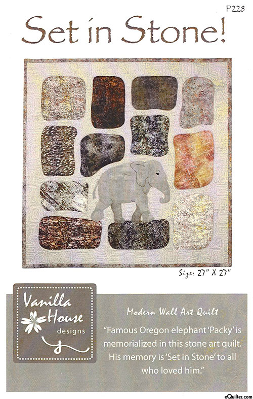 Set in Stone - Appliqué Pattern by Vanilla House Designs