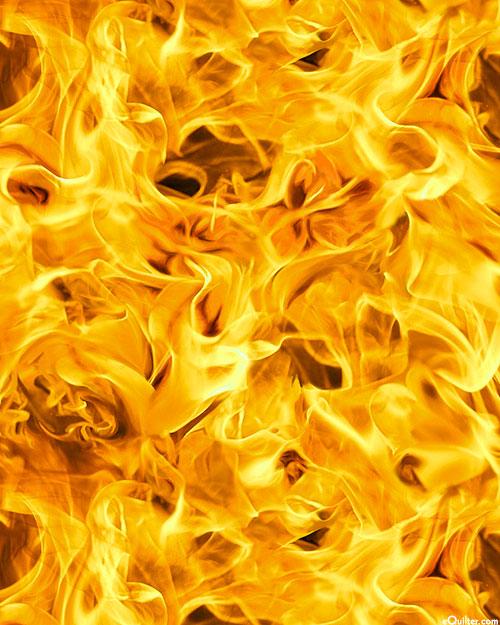 Open Air - Windswept Flames - Yellow - DIGITAL PRINT