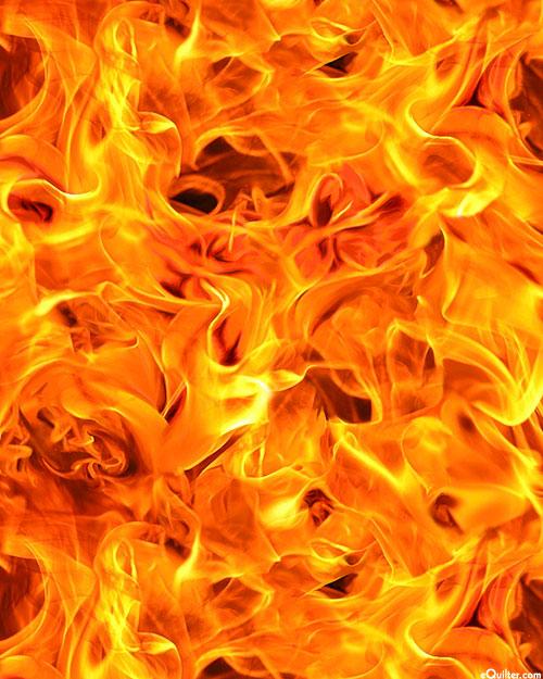 Open Air - Windswept Flames - Blaze Orange - DIGITAL PRINT