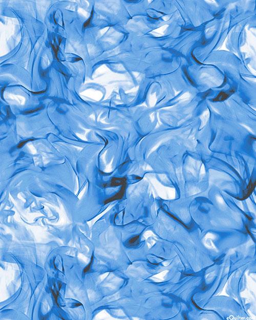 Open Air - Windswept Flames - Cool Blue - DIGITAL PRINT