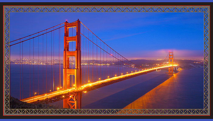 "Artworks - Golden Gate Bridge - 24"" x 44"" PANEL - DIGITAL PRINT"