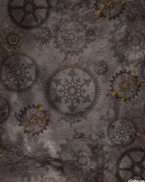 Steampunk Halloween - Gears - Dk Charcoal Gray