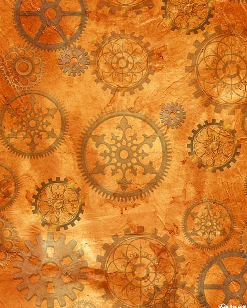 Steampunk Halloween - Gears - Burnt Orange