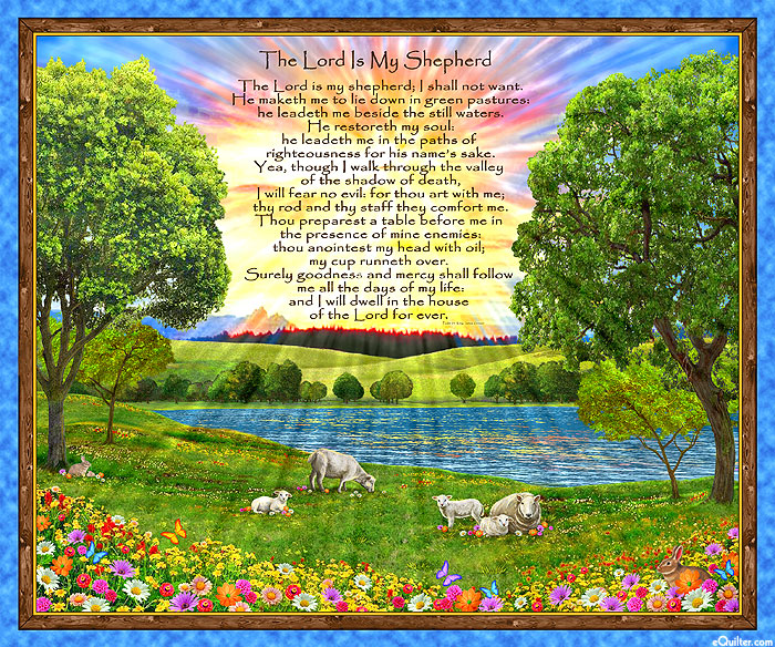 """The Lord Is My Shepherd - 23rd Psalm - 36"""" x 44"""" PANEL"""