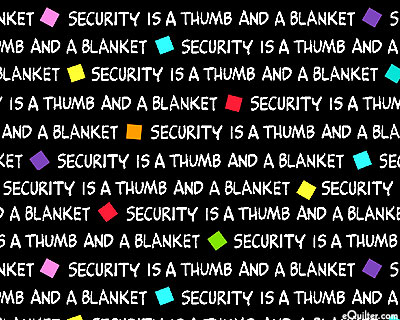 Project Linus - Security Is A Thumb And A Blanket - Black