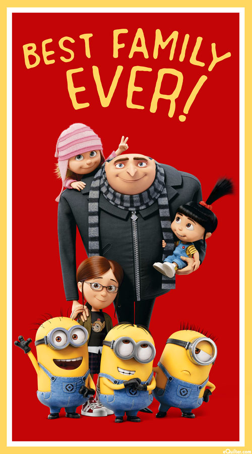 """Minions - Best Family Ever - 24"""" x 44"""" PANEL"""