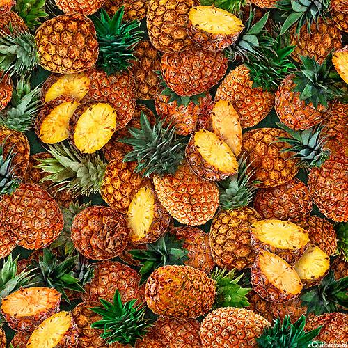Fresh - Island Pineapples - Black - DIGITAL PRINT