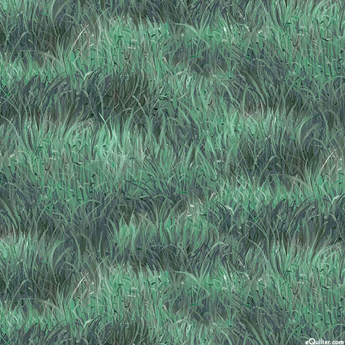 Roam Free - Grassy Plains - Hunter Green - DIGITAL PRINT