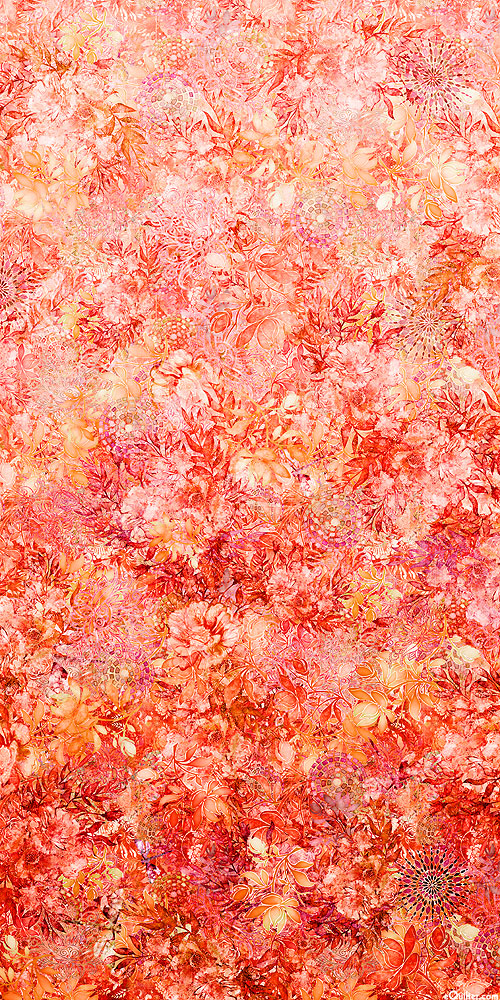 Floralessence - Blooming Ombre - Coral - DIGITAL PRINT