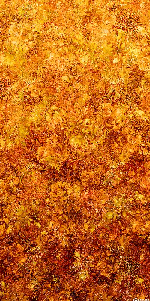 Floralessence - Blooming Ombre - Rust Orange - DIGITAL PRINT
