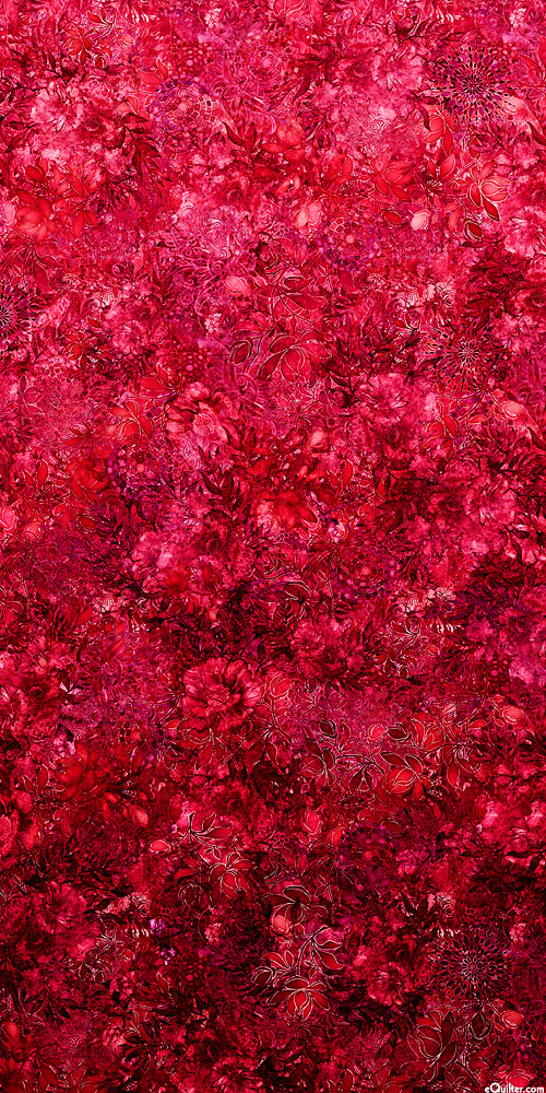 Floralessence - Blooming Ombre - Raspberry Red - DIGITAL PRINT