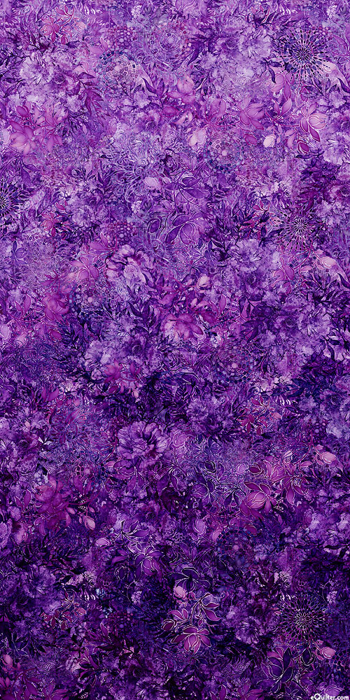 Floralessence - Blooming Ombre - Eggplant - DIGITAL PRINT