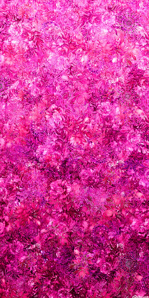 Floralessence - Blooming Ombre - Fuchsia - DIGITAL PRINT