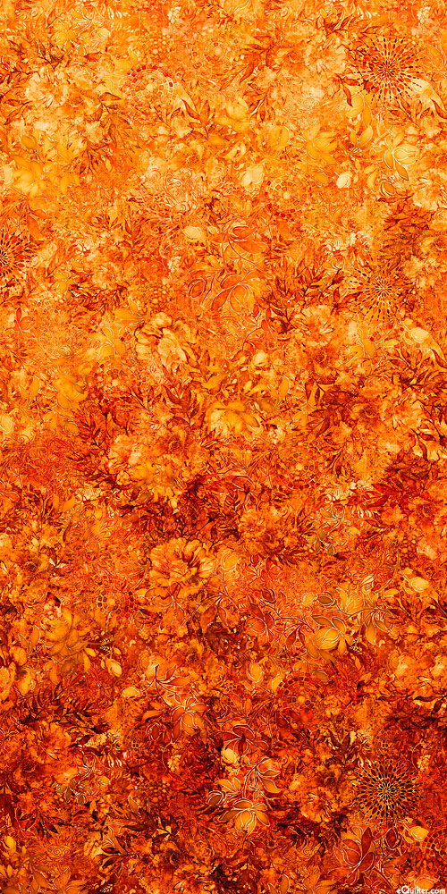 Floralessence - Blooming Ombre - Flame Orange - DIGITAL PRINT