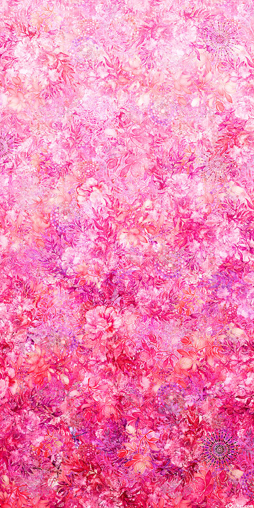 Floralessence - Blooming Ombre - Retro Pink - DIGITAL PRINT