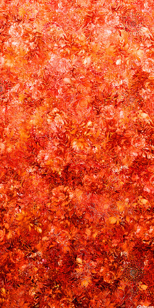 Floralessence - Blooming Ombre - Persimmon - DIGITAL PRINT