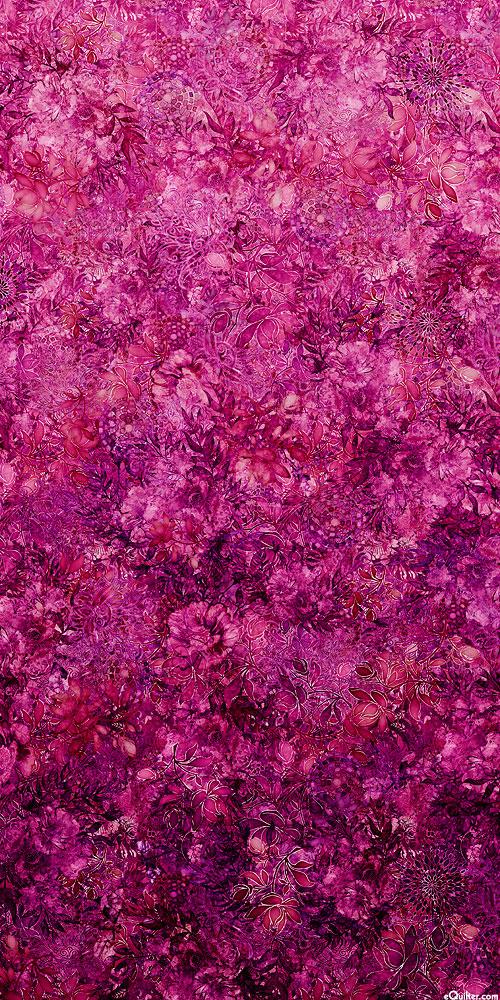 Floralessence - Blooming Ombre - Raisin - DIGITAL PRINT