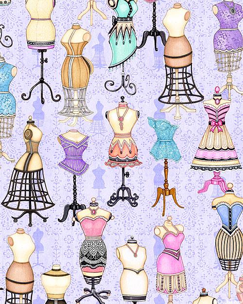Tailor Made - Delicate Dress Forms - Wisteria - DIGITAL PRINT