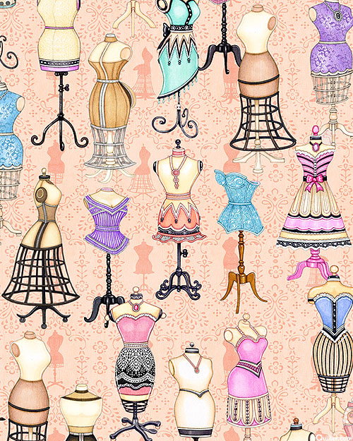 Tailor Made - Delicate Dress Forms - Peach - DIGITAL PRINT
