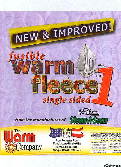 "Single Sided Fusible Warm Fleece 1 - 45"" Wide - by the Yard"
