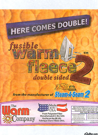 "Double-Sided Fusible Warm Fleece 2 - 45"" Wide - by the Yard"