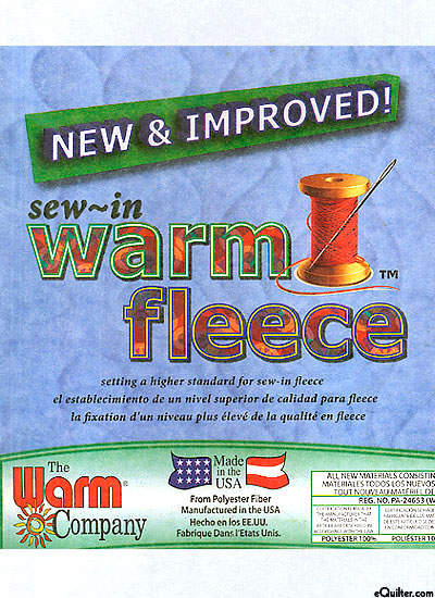 "Sew-in Warm Fleece - Polyester - 45"" Wide"