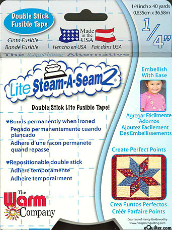 """Steam-A-Seam 2 Lite - Double Stick Fusible Web - 1/4"""" Tape"""