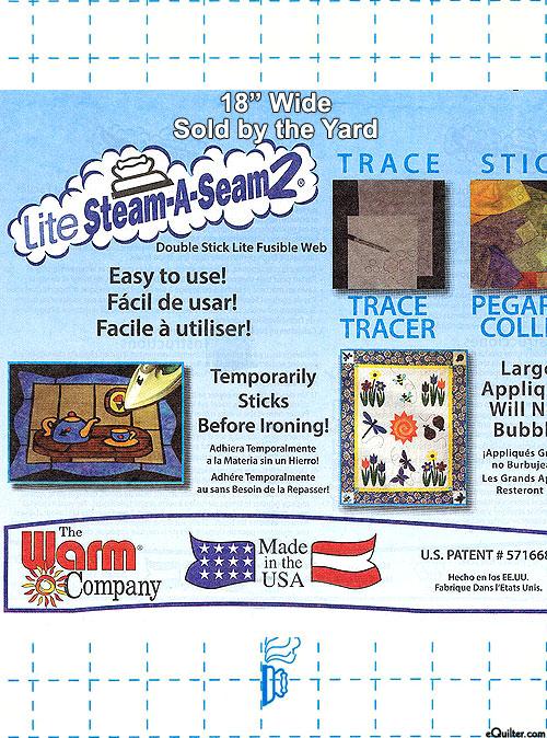 """Steam-A-Seam 2 Lite - Double Stick Fusible Web - 18"""" WIDE"""