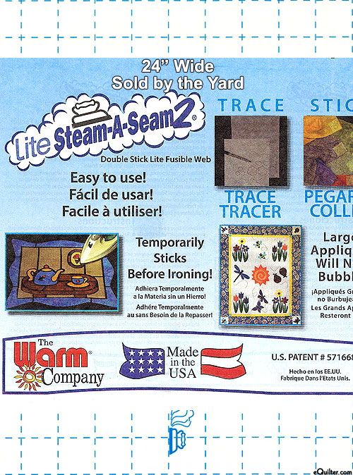 "Steam-A-Seam 2 Lite - Double Stick Fusible Web - 24"" WIDE"