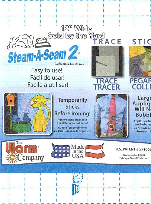 """Steam-A-Seam 2 Original - Double Stick Fusible Web - 12"""" WIDE"""