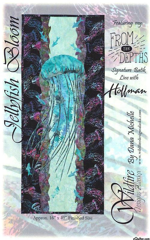 Jellyfish Bloom - Applique Pattern by Dana Michelle