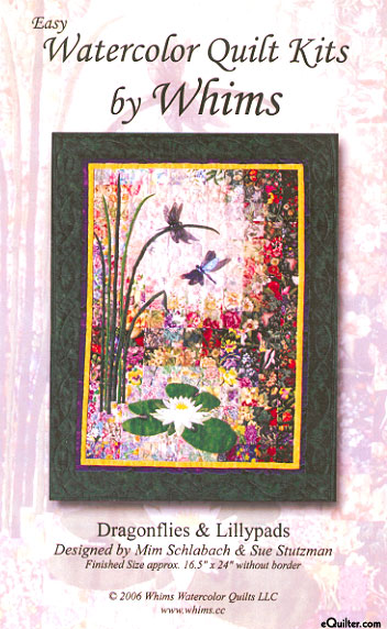 Dragonflies & Lillypads Watercolor Quilt Kit