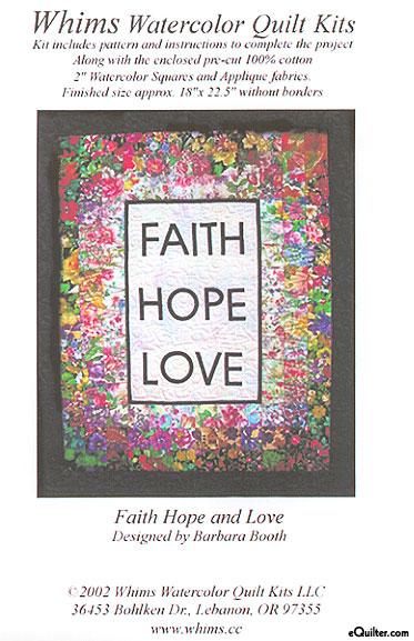 Faith, Hope & Love Watercolor Quilt Kit