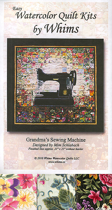 eQuilter Grandma's Sewing Machine Quilt Pattern & Fabric KIT : sewing machine quilting patterns - Adamdwight.com