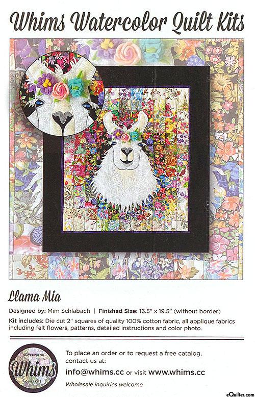 Llama Mia Quilt Pattern & Fabric KIT