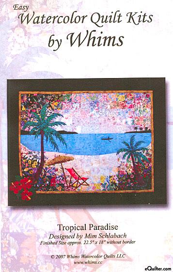 Tropical Paradise Watercolor Quilt Kit