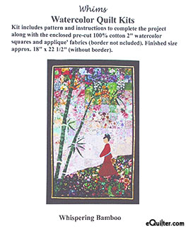 Whispering Bamboo Watercolor Quilt Kit