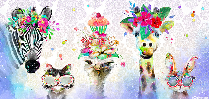 "Party Animals - Fashion Forward - 22"" x 44"" PANEL - DIGITAL"