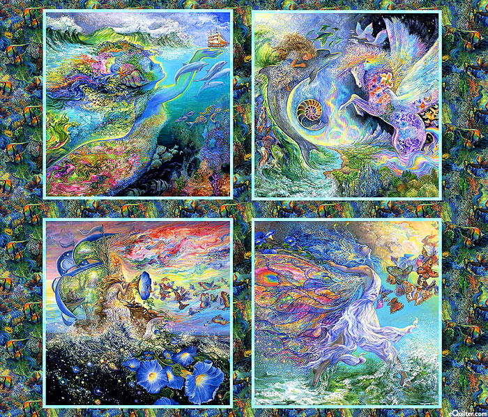 """Call of the Sea - Mother Earth - Multi - 36"""" x 44"""" PANEL"""