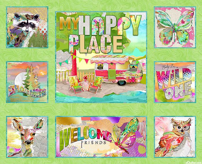 "My Happy Place - Exploration Adventure - 36"" x 44"" PANEL"