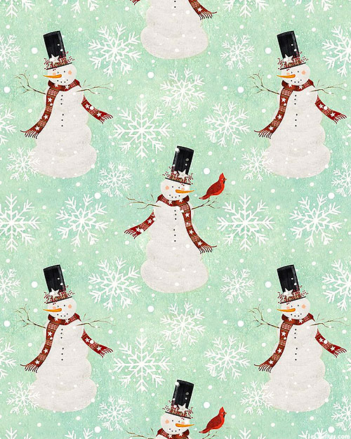 Home For The Holidays - Snowman Dance - Seafoam
