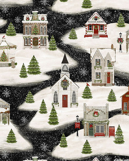 Home For The Holidays - Christmas Blizzard - Black