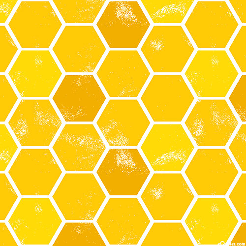 Feed the Bees - Sweet Hexies - Honey Gold