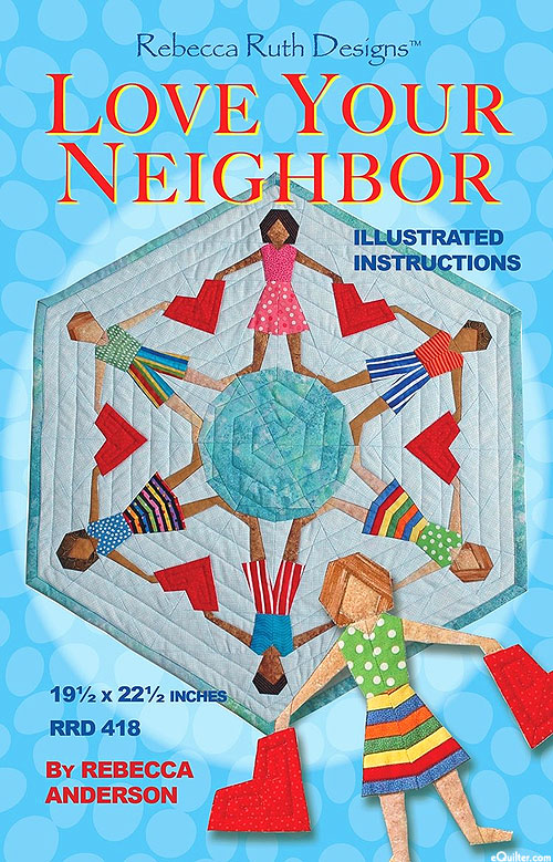 Love Your Neighbor - Table Topper Pattern by Rebecca Anderson