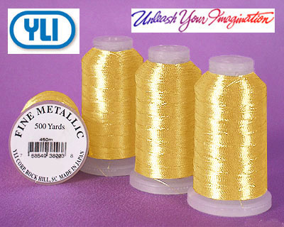 YLI Fine Metallic Thread - 500 yd - Yellow Gold - #GL3