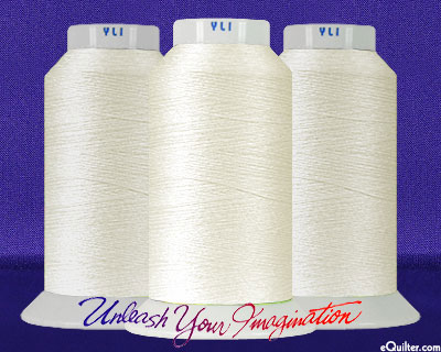 YLI Machine Quilting Thread - 40 wt - 3000 yd - Natural Ivory