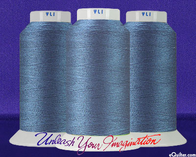YLI Machine Quilting Thread - 40 wt - 3000 yd - Blue Grey